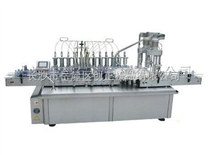 全自動柱塞式十頭液體灌裝雙頭旋蓋一體機\液體灌裝旋蓋一體機
