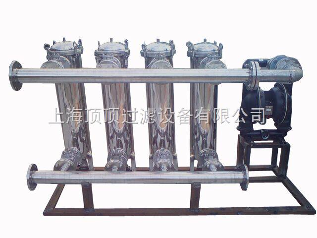 双联切换过滤器它是由两台不锈钢过滤器并联而成,具有结构新颖合理